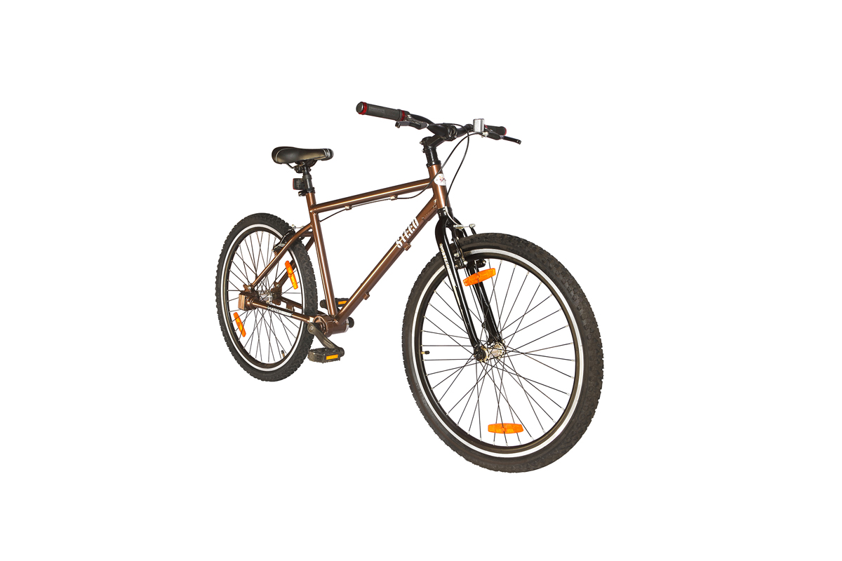 Colours available in Single Speed Rigid Fork Steed Chainless Bicycles are Noble Blue, Espresso Brown, Minreal Red and Earth Brown
