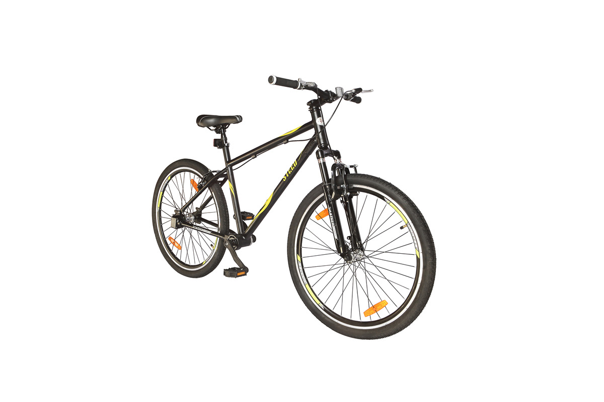 Single Speed Suspension Fork Steed Chainless Bicycles are available in Noble Blue, Espresso Brown, Minreal Red and Earth Brown colours