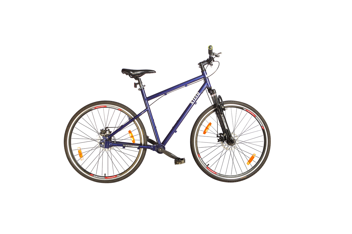 Colours available in Single Speed Suspension Steed Chainless Bicycles are Earth Brown, Espresso Brown, Noble Blue, Mineral Red, Fiery Red, White, Black, Stery Blue