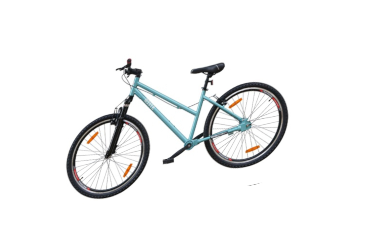Colours available in Single Speed Suspension Fork Steed Chainless Bicycles are Aquamarine, Mist lilac blue, Yellow sunshine, Ultra pink