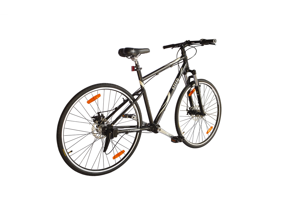 Three Speed Suspension Fork with Lock Hydraulic Disk Brake Steed Chainless Bicycles